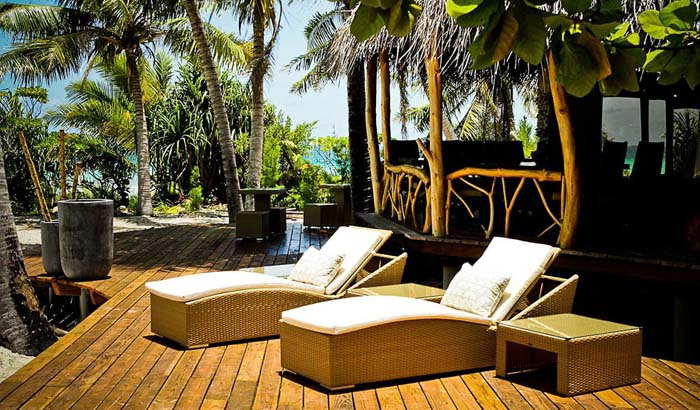 Relax at the Tikehau Ninamu Resort. Photo via motuninamu.com