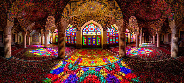 Fairy tale places you should visit: Nasir al Molk Mosque, Shraz, Iran. Photo by Mohammad Reza Domiri Ganji.