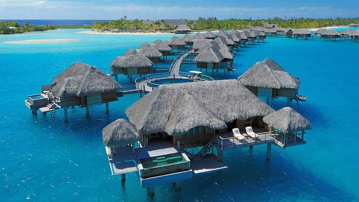 Four Seasons Bora Bora overwater bungalows. Photo by homedsgn.com