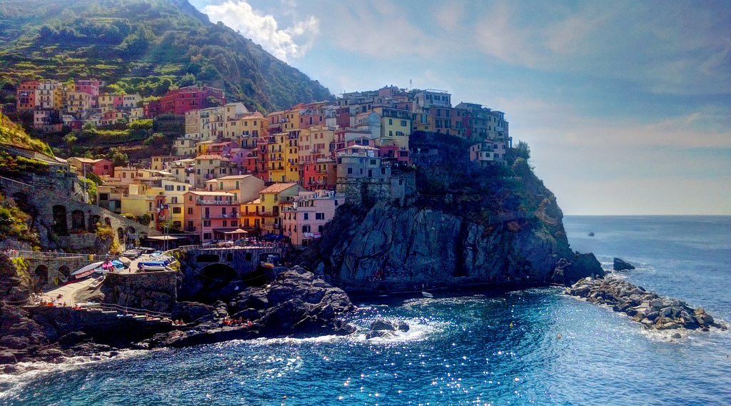Best villages in Europe: The colourful village of Manarola overlooks the Ligurian sea in Italy. Photo by Laurent Castellani, Flickr