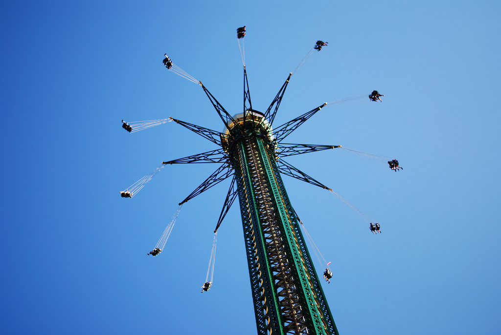 The world's tallest chained carousel in Vienna, Austria. Photo by Pixi, Flickr