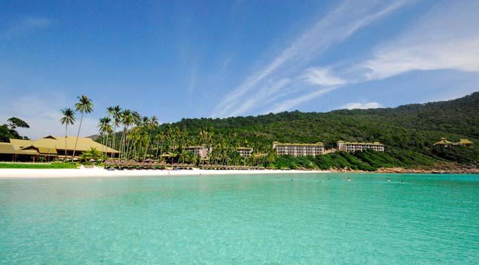 An ocean-front view of the Taaras Resort.