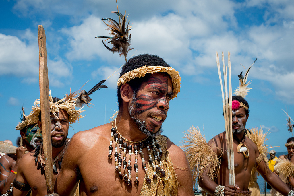 Traditional performers dance in Wallis and Futuna. Photo by Graham Crumb, Flickr