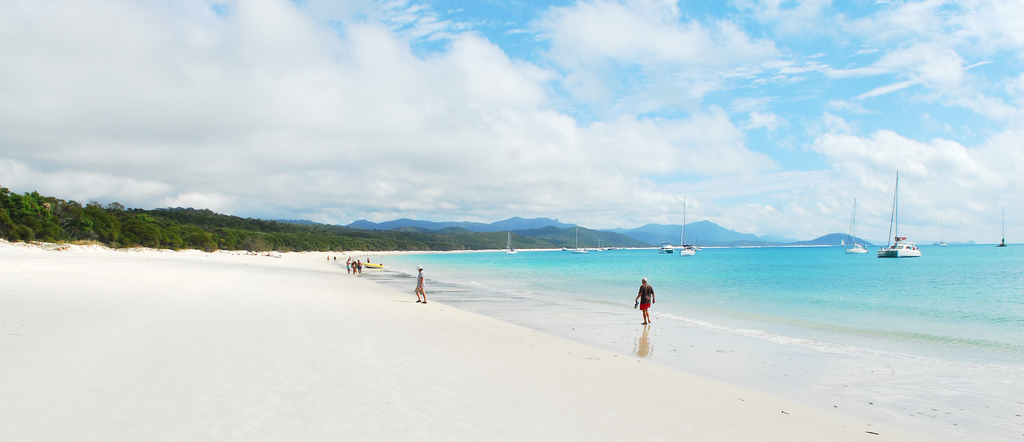 Whitehaven beach has some of the finest sand in the Pacific Photo by Leon Wilson, Flickr