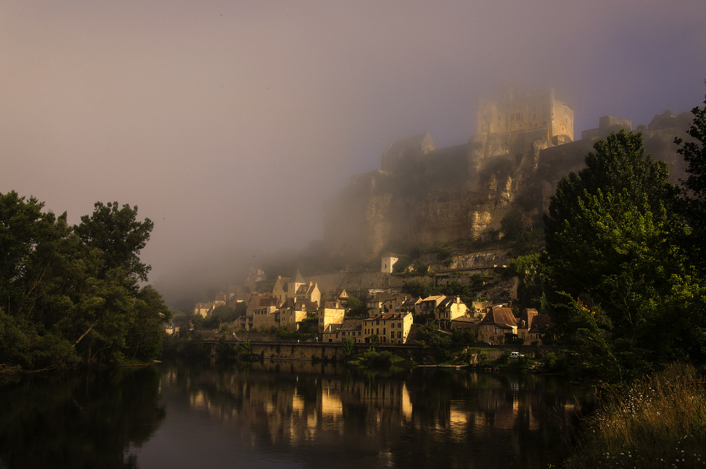 best villages in Europe: A view of Chateau de Beynac and the small town below from the banks of the river. Photo by @lain G, Flickr