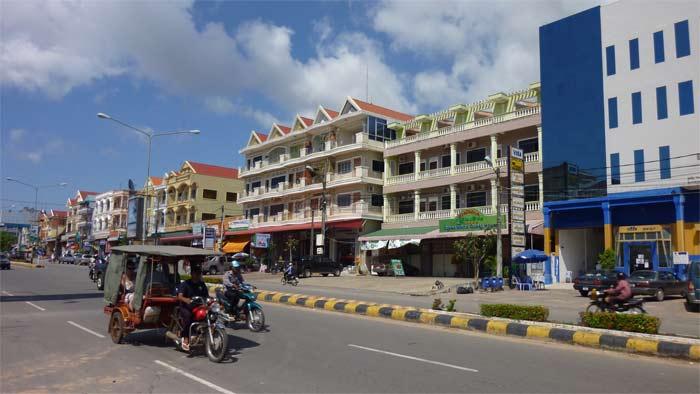 Downtown Sihanoukville, Cambodia. Photo by sihanoukville-cambodia.com