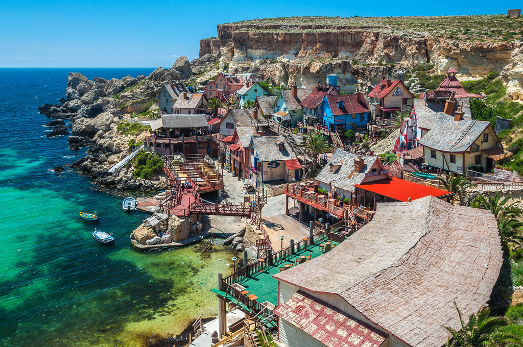 best villages in Europe: Popeye village in Malta retains a rustic vibe. Photo by Tobias Scheck, Flickr