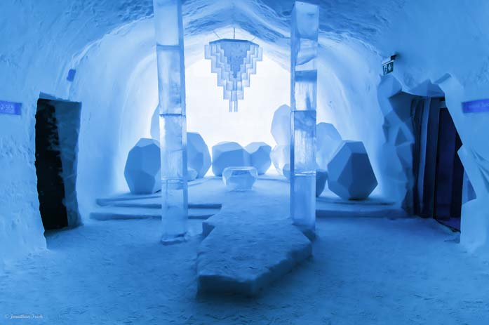 The Ice Hotel is just as much art as it is accommodation. Photo by jonathanirish.com
