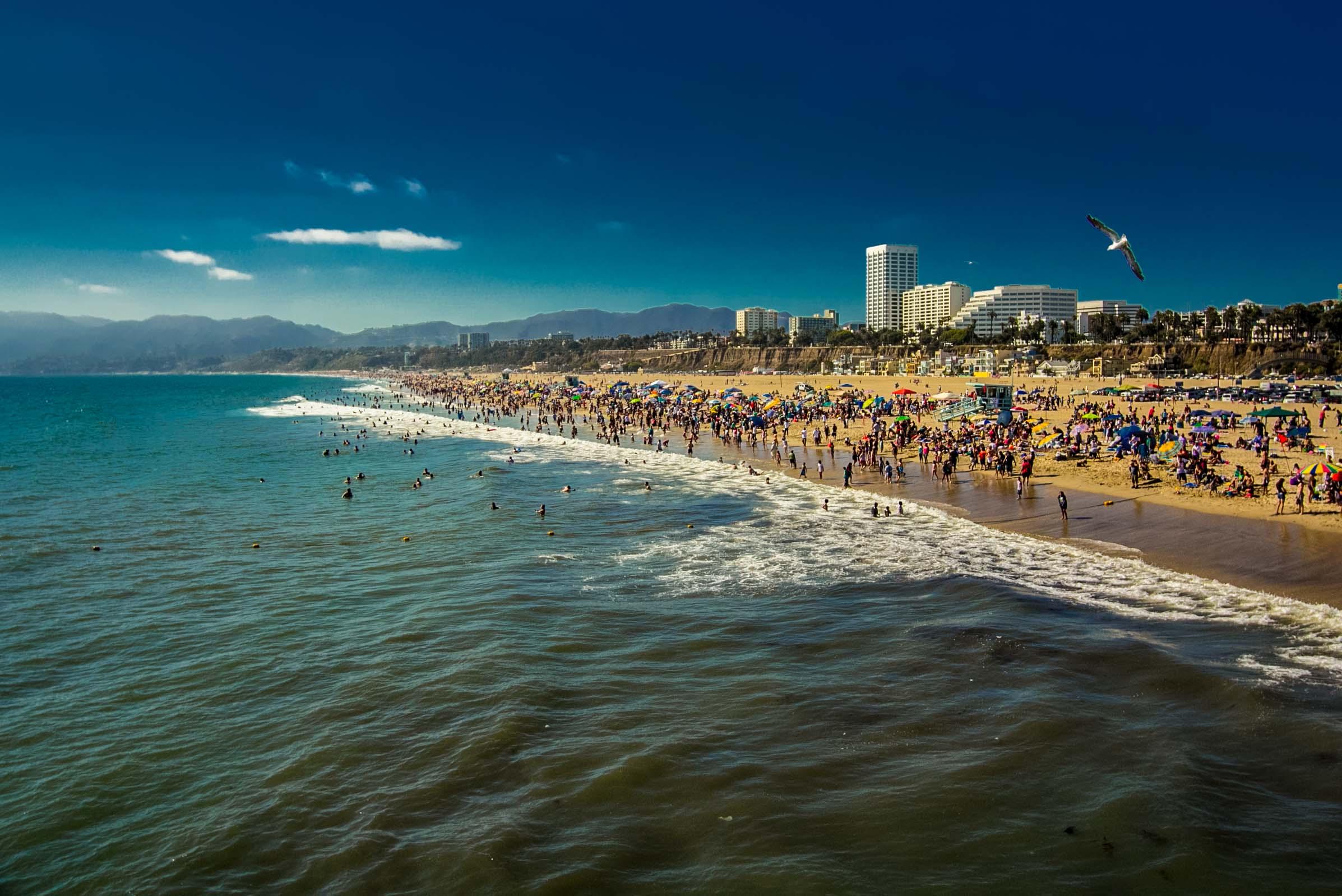 Santa Monica Beach Photo By Viewwallpaper