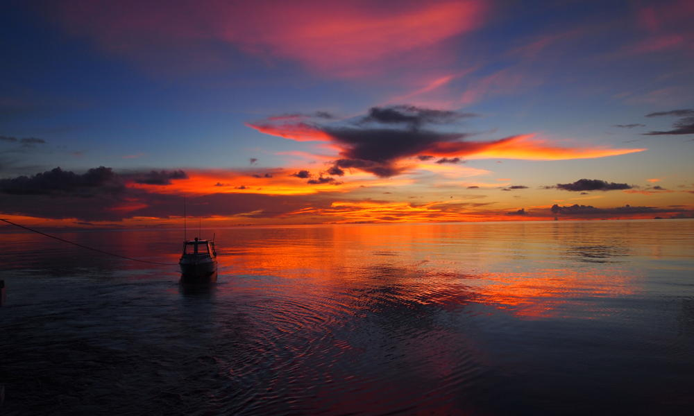 Stunning equatiral ocean sunset from the Raja Ampat islands. Photo by yohancha, Flickr