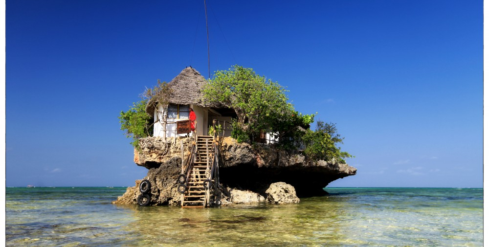 The Rock Restaurant, Zanzibar. Photo by www.therockrestaurantzanzibar.com
