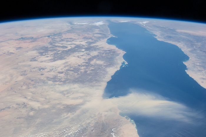 The Sahara is so large it can be seen from space! Photo from NASA's Marshall Space Flight Center