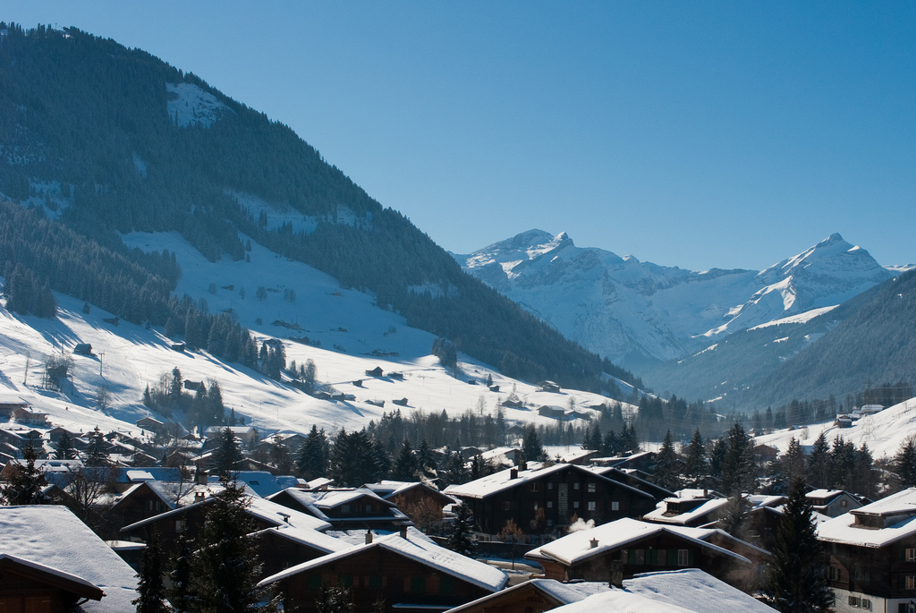 best villages in Europe: Gstaad has one of the biggest ski fields in the Swiss Alps. Photo by Simon Bonaventure, Flickr