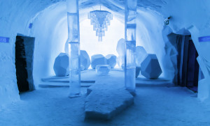 The Ice Hotel is just as much art as it is accommodation. Photo by jonathanirish(.com)