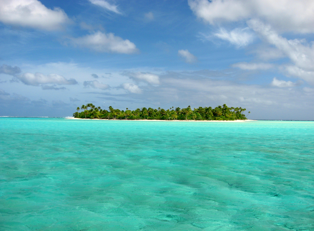 The azure lagoons in Aitutaki lure visitors to the Cook Islands. Photo by Christina Spicuzza, Flickr