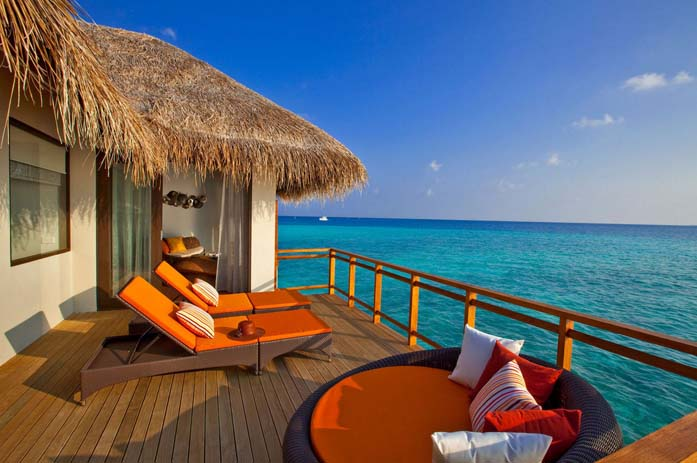 Staying at the Velassaru Resort in Maldives.