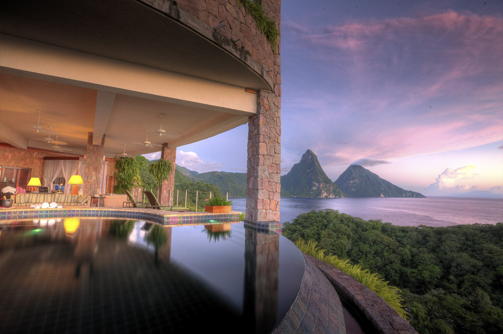 7 Indulge at Jade Mountain and get a room with an infinity pool. Photo by Best of St Lucia, flickr