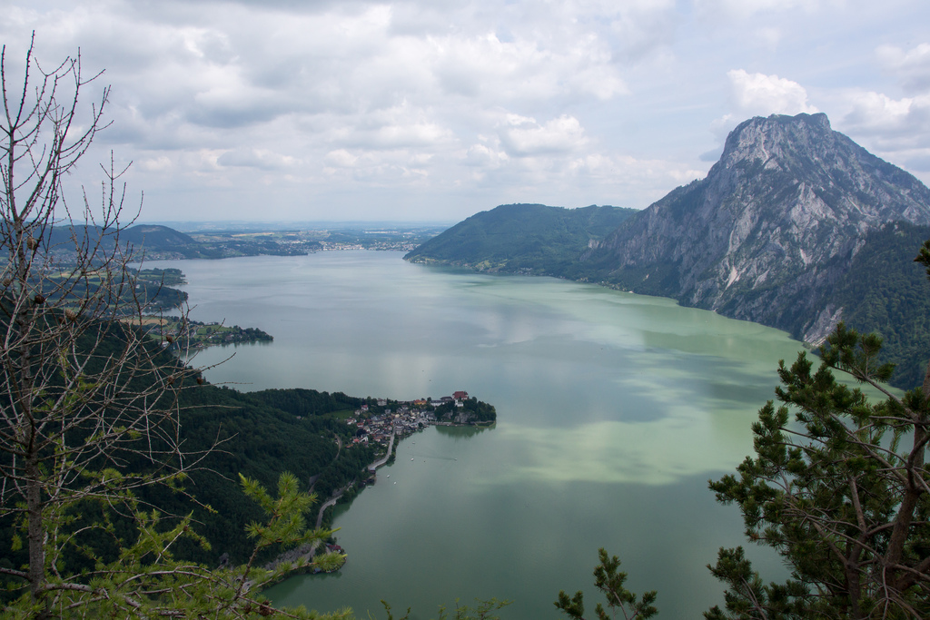 best villages in Europe: A view of Traunkirchen in Austria from above the lake. Photo by Harald Deischinger, Flickr