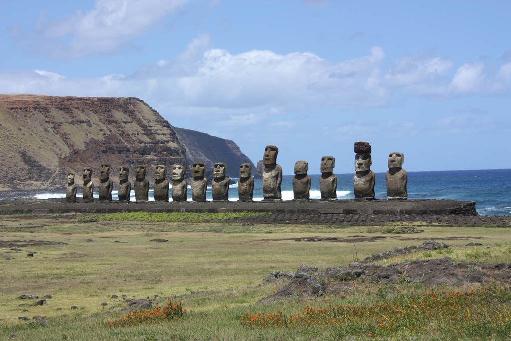 The iconic moai statues form the enduring image of Easter Island. Photo by Arian Zwegers, Flickr