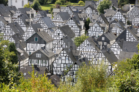 best villages in Europe: Half timbered houses in Freudenberg, Germany. Photo by colourbox