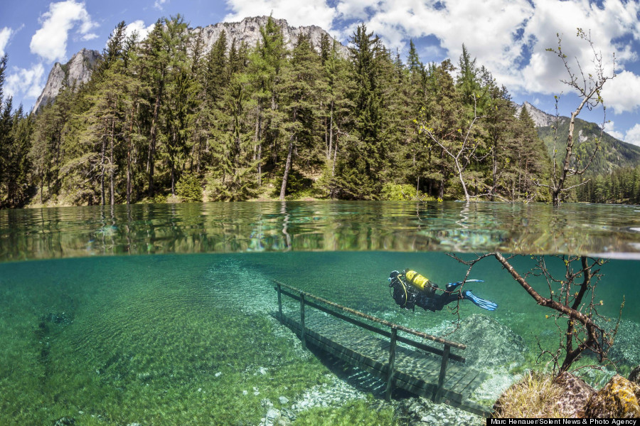 Hike through the alpine in the winter and scuba dive in the summer. Photo via Huffingtonpost