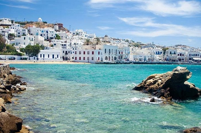 Mykonos, a Greek Island situated in the Mediterranean Sea. Photo by travelhub.com.au