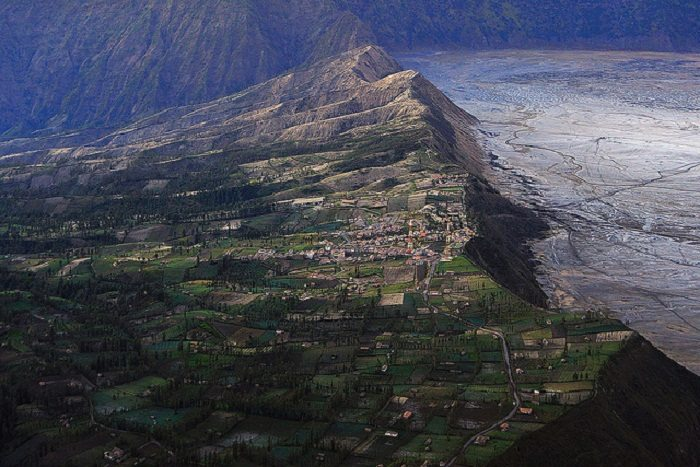 Gunung Bromo is built on the edge of a volcano. Photo by Anan Charoenkal