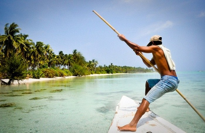 Local gone fishing off the island of Karimunjawa. Photo by Colm Fox