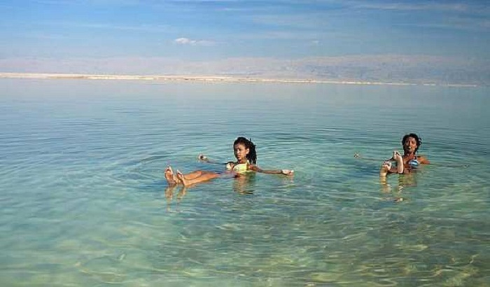 Floating in the Dead Sea. Photo by dailylife.com.au