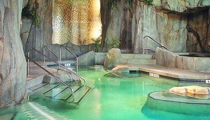 Tigh-Na-Mara Resort is made to look like an underground spring. Photo via VancouverIsland