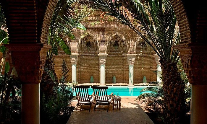 La Sultana has incredible courtyards laden with palm tress. Photo by Kiwi Collection