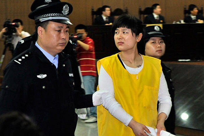 Wu Ying at her sentencing for her part in shadow banking