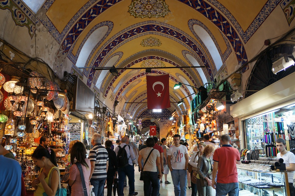 The Grand Bazaar, Istanbul. Photo by aroundtheworldin80jobs.com