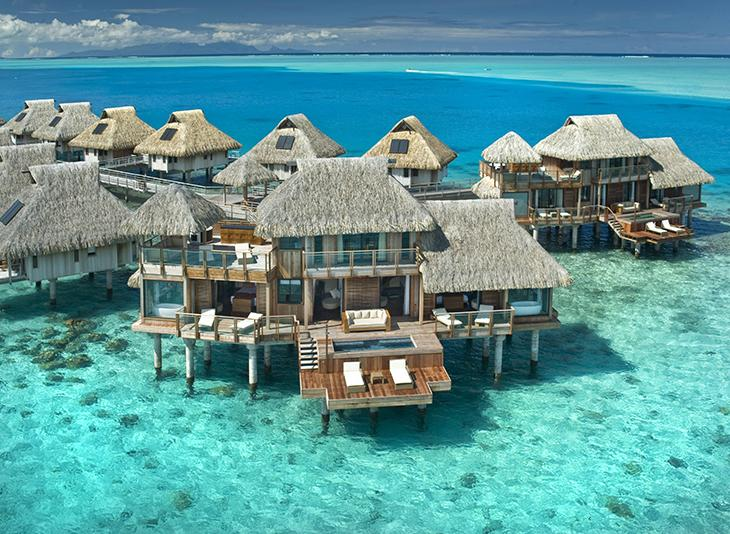 These 2-story overwater bungalows are slightly over the top. Photo by Splendid Buzz