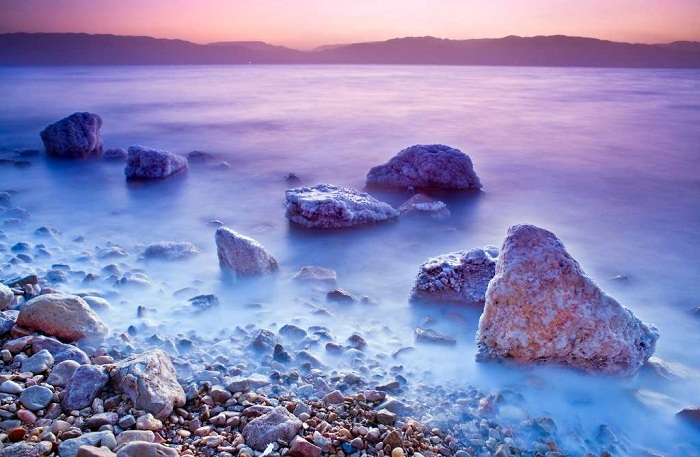 The Dead Sea is a beautiful sight located in Jordan Israel
