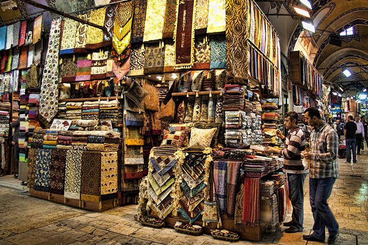 The Grand Bazaar in Istanbul, Turkey. Photo by fineartamerica.com