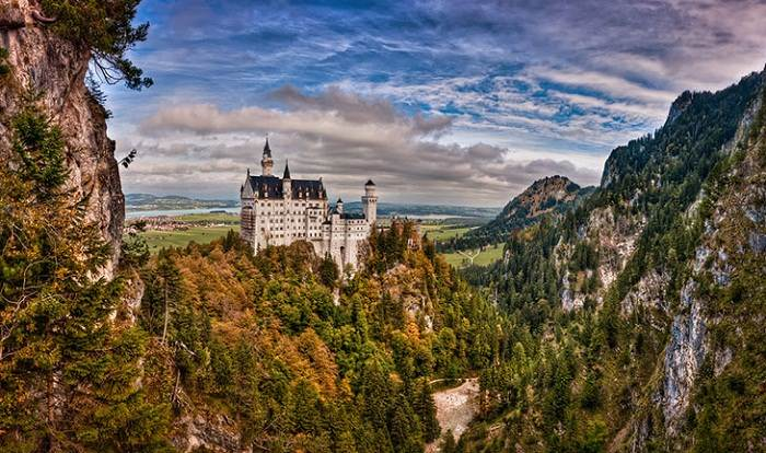 The Schloss Neuschwanstein countryside is stunning. Photo by Kay Gaensler, flickr