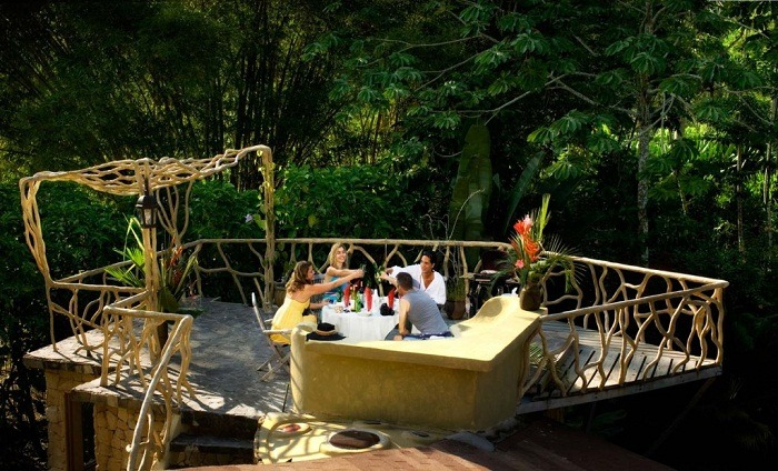 Have a cocktail among the tree tops at Tree House Lodge, Costa Rica. Photo by costaricatreehouse.com