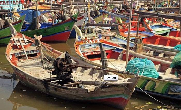 The harbour in Cirebonis filled with fishing boats. Photo by Peter Treanor