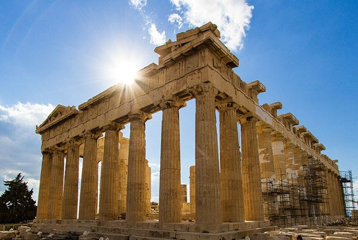 The Parthenon is located on the Athenian Acropolis in Greece. Photo by Martin Pilát, flickr