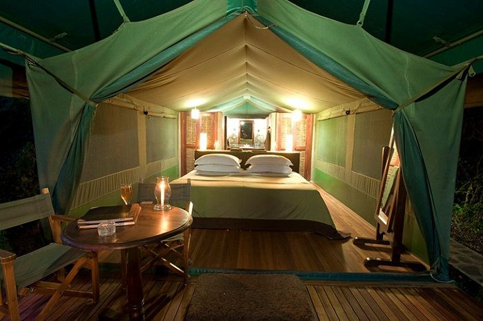 One of the luxury tents to be found at Kichwa Tembo. Photo by, bonfireadventures.com