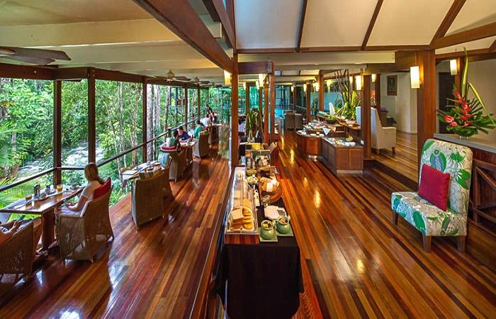 Dine in the open air at Canopy Tree Houses Queensland Australia. Photo by & Stay in an eco-friendly Tree House