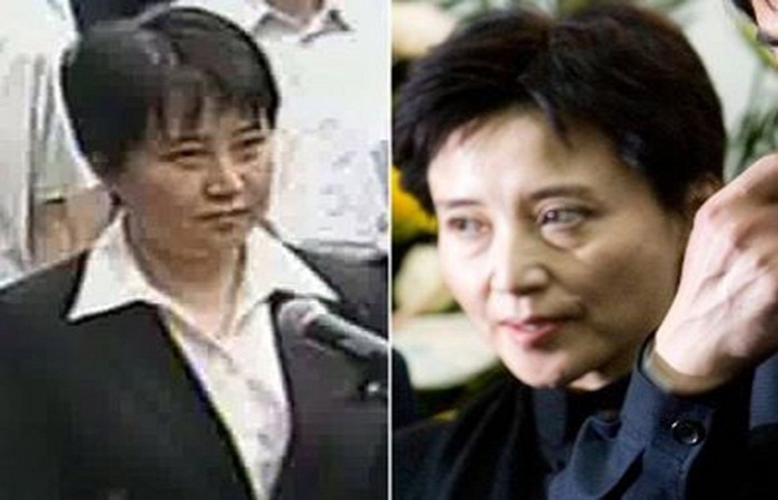 Gu Kalai (right) and her alleged body double in court (left). Photo by factualfacts.com