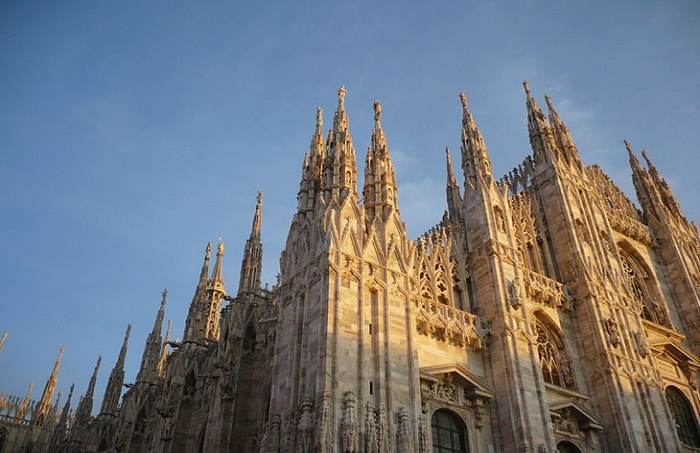 The detail in Milan Cathedral can also be seen from the rooftop. Photo by CresySusy, flickr