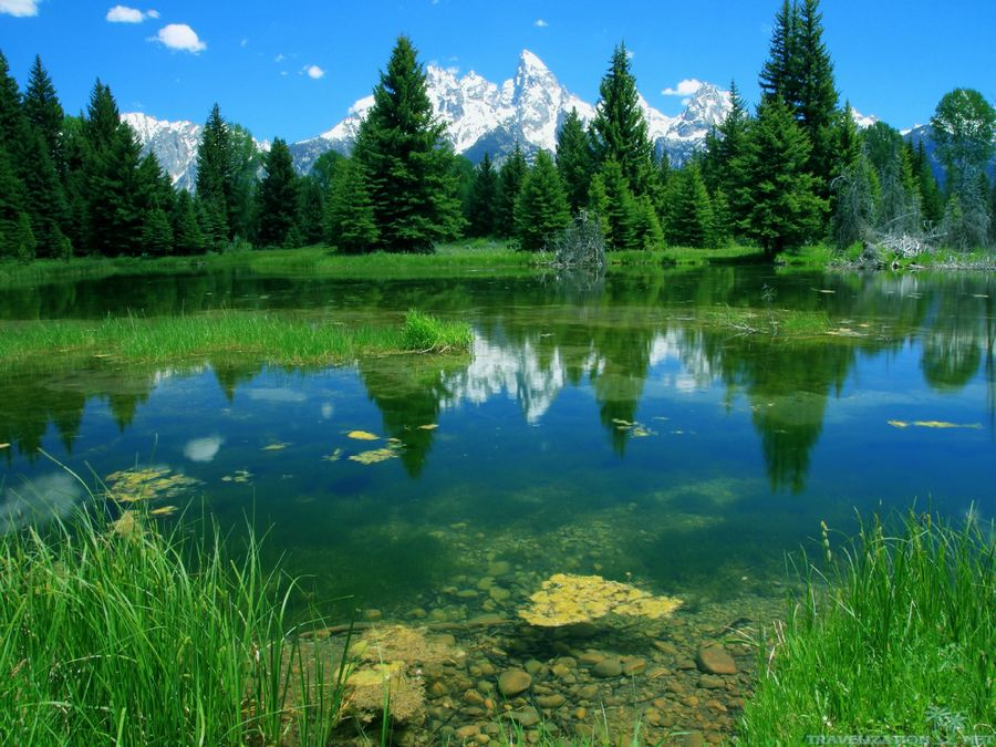 he National Park Grand Tetons is found in north-western part of Wyoming