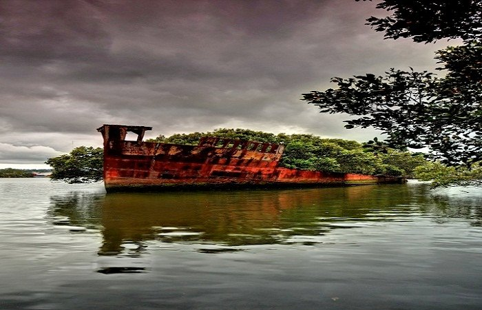 The SS Ayrfield is one of many decommissioned ships in the Homebush Bay