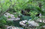 Exploring ancient rivers in Xcaret Park in Mexico