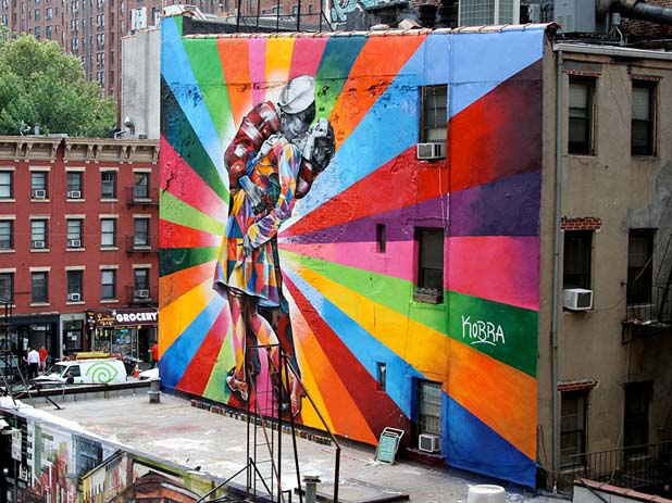 New York is one of the best cities for street art. Photo by boredpanda.com