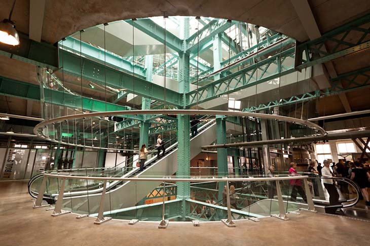 The Guiness Storehouse glass atrium. Photo by Matt Grubb