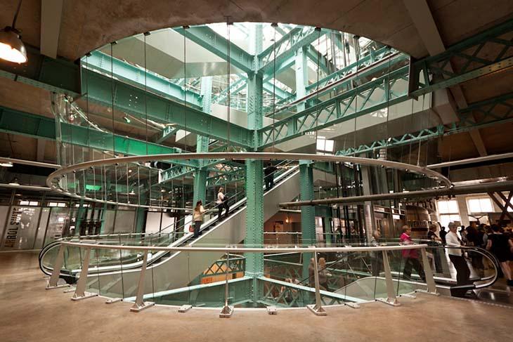 The Guiness Storehouse glass atrium. Photo by Matt Grubb
